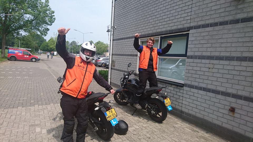 Jordy Kromheer, Matthijs vd Tillhart, ruud schreijer, rijschool Hoorn, rijles, motorrijbwijs