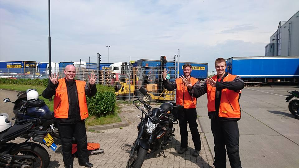 Kevin de ouden, Rick Montijn, Marcel kalliski, ruud schreijer, motorrijles, motorrijbewijs, Hoorn