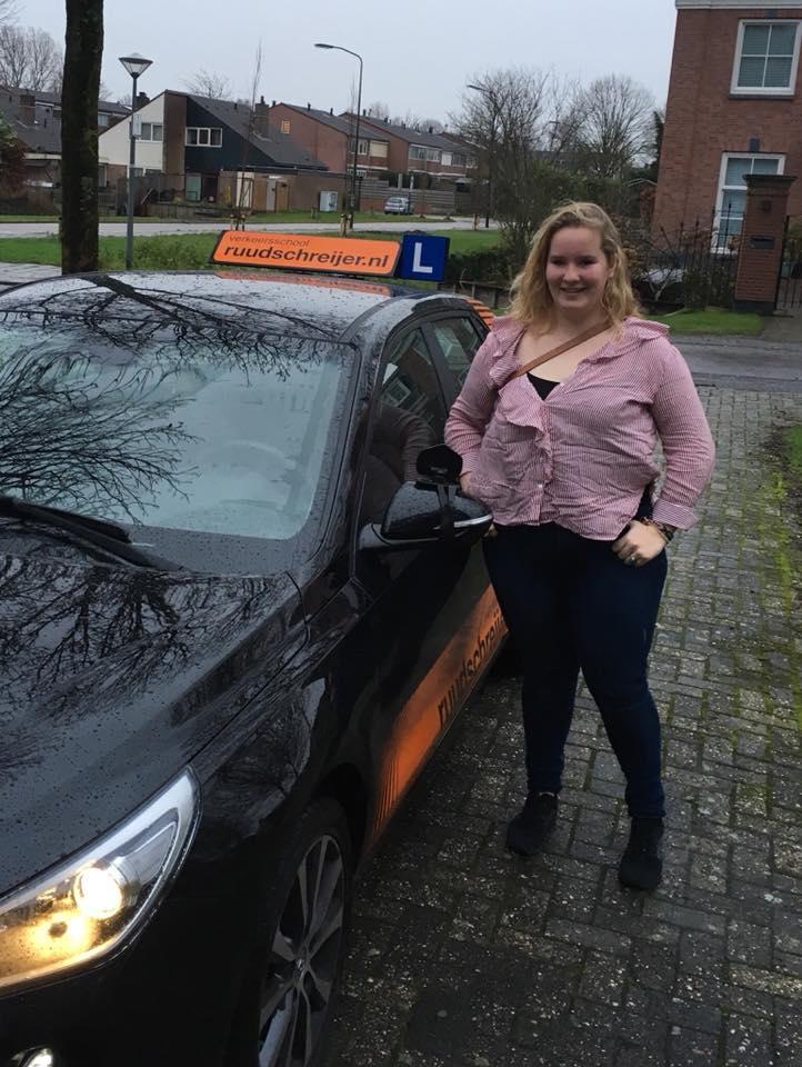 Esther Besseling, ruud schreijer, geslaagd 2018, rijbewijs.