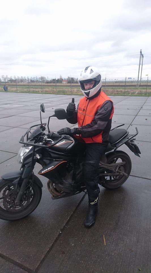 Ruud Schreijer, AVB examen, voertuigbeheersing, motorrijles, goed slagingspercentage